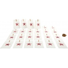 Small Foot Adventní kalendář papírové taštičky bílé