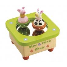 Tidlo hrací skříňka Kravička a prasátko