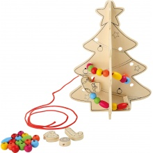 Small Foot Vánoční stromeček s korálky 1 ks