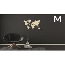 Wooden City 3D puzzle - Mapa světa M