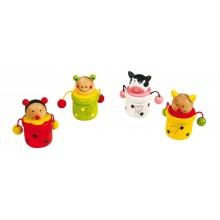 Dřevěné hračky -  Krabička na mléčné zoubky zvířátka Kravička