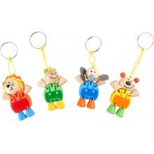 Přívěšek na klíče Flexibilní zvířata 1ks  oranžová