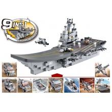 Sluban Army 9into1 M38-B0537 Letadlová loď 9v1