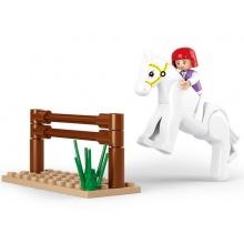 Sluban Girls Dream Town M38-B0517 Trénující kůň