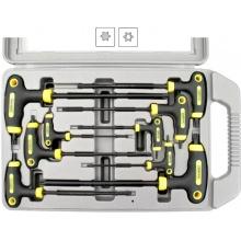 Klíče Torx tvaru L, sada 9 kusů, v kufříku, Extol Premium