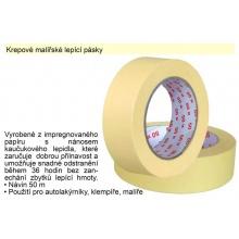 Krepová lepící páska 25mm x 50m
