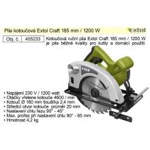 Pila kotoučová Extol Craft průměr 185 mm 1200W