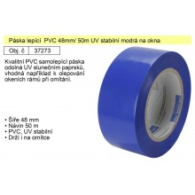 Páska lepící  PVC 48mm/ 50m UV stabilní modrá na okna