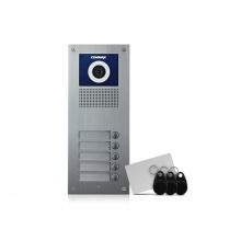 DRC-5UC/RFID, Commax barevná dveřní kamerová jednotka s 5 tlačítky s integrovanou čtečkou