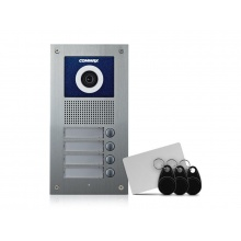 DRC-4UC/RFID, Commax barevná dveřní kamerová jednotka se 4 tlačítky a integrovanou čtečkou