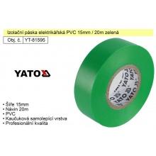 Izolační páska elektrikářská PVC 15mm / 20m zelená