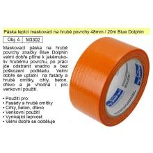 Páska lepící maskovací na hrubé povrchy 48mm/20m oranžová Blue Dolphin