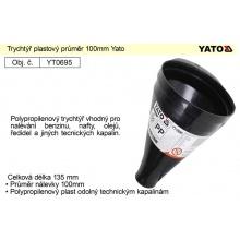 Trychtýř plastový průměr 100mm Yato