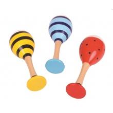 Bigjigs Toys Barevné rumbakoule junior zvířáka 1 pár žlutá