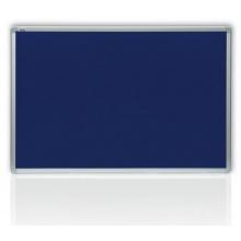 Filcová modrá tabule v hliníkovém rámu 100x150 cm