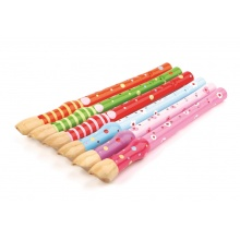 Tidlo dřevěná flétna sada 1ks růžová