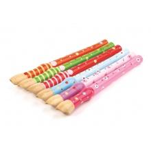 Tidlo dřevěná flétna sada 1ks fialová