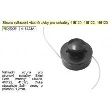 Struna náhradní včetně cívky pro sekačky Extol Craft 416120, 416122, 416123