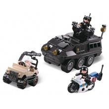 Sluban Policie M38-B0655 SWAT pozemní zásahová jednotka honí zloděje