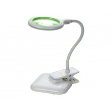 Lupa stolní kulatá  malá 3+12diop. LED(36x) USB 5V, 2W