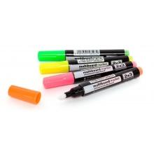 Sada fluorescentních popisovačů na skleněné tabule-4 ks