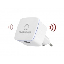 Wi-Fi repeater Renkforce RF-WR-N300MINI, 300 Mbit/s, 2.4 GHz