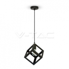 VT-7161-3834 V-TAC lustr Geometric Pendant Light Matt Black Square