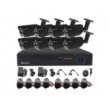 Kamera set SECURIA PRO AHD8CHV1-B 720P 8CH DVR + 8x IR CAM 1MPx analog