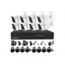 Kamera set SECURIA PRO AHD8CHV1-W 720P 8CH DVR + 8x IR CAM 1MPx analog
