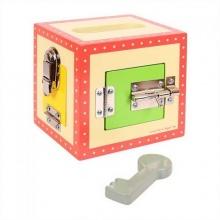 Bigjigs Toys dřevěná skříňka se zámky - poškozený obal