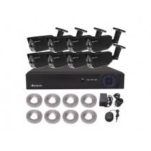 Kamera set SECURIA PRO NVR8CHV2-B 1080P 8CH DVR + 8x IR CAM 2MPx digitální