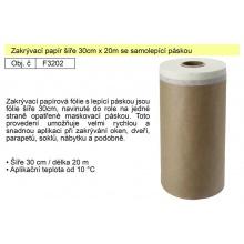 Papír zakrývací 30cm/23m se samolepící páskou