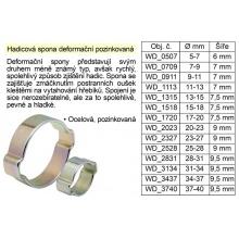 Hadicová spona deformační pozinkovaná 34-37 mm