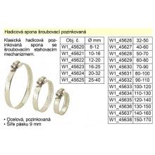 Hadicová spona šroubovací pozinkovaná 130-150 mm