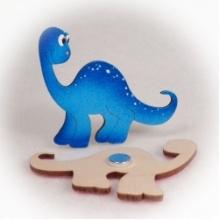Dřevěné magnetky - Brontosaurus
