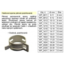 Hadicová spona pérová pozinkovaná 11-14 mm