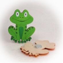 Dřevěné magnetky žabka