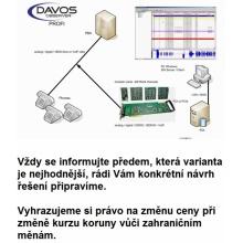 DOP4DSPCIe Davos nahrávání hovorů, 4 digitální linky, sada pro instalaci do PC