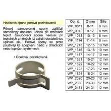 Hadicová spona pérová pozinkovaná 16-22 mm