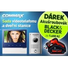 CDV-70H+DRC-40K+B Commax - sada barevného vidotelefonu  s 7'' displejem s dotykovými tlačítky Bonus AKU šroubovák