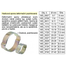 Hadicová spona deformační pozinkovaná 25-28 mm