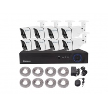 Kamera set SECURIA PRO NVR8CHV2-W 1080P 8CH DVR + 8x IR CAM 2MPx digitální