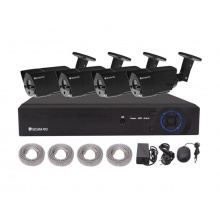 Kamera set SECURIA PRO NVR4CHV2-B 1080P 4CH DVR + 4x IR CAM 2MPx digitální