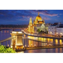 CASTORLAND Puzzle Soumrak v Budapešti 2000 dílků