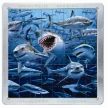 PIATNIK Magna 3D puzzle: Žraloci 64 dílků