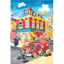 TREFL Puzzle Mickey Mouse: Požární stanice MAXI 24 dílků