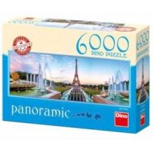 DINO Panoramatické puzzle Pohled na Eiffelovu věž 6000 dílků