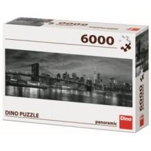 DINO Panoramatické puzzle Brooklynský most přes East River 6000 dílků