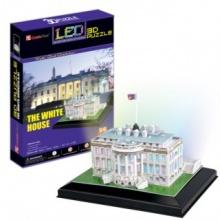 CUBICFUN Svítící 3D puzzle Bílý dům 56 dílků
