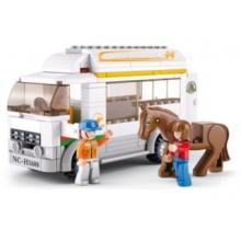 Stavebnice SLUBAN Vůz na přepravu koní